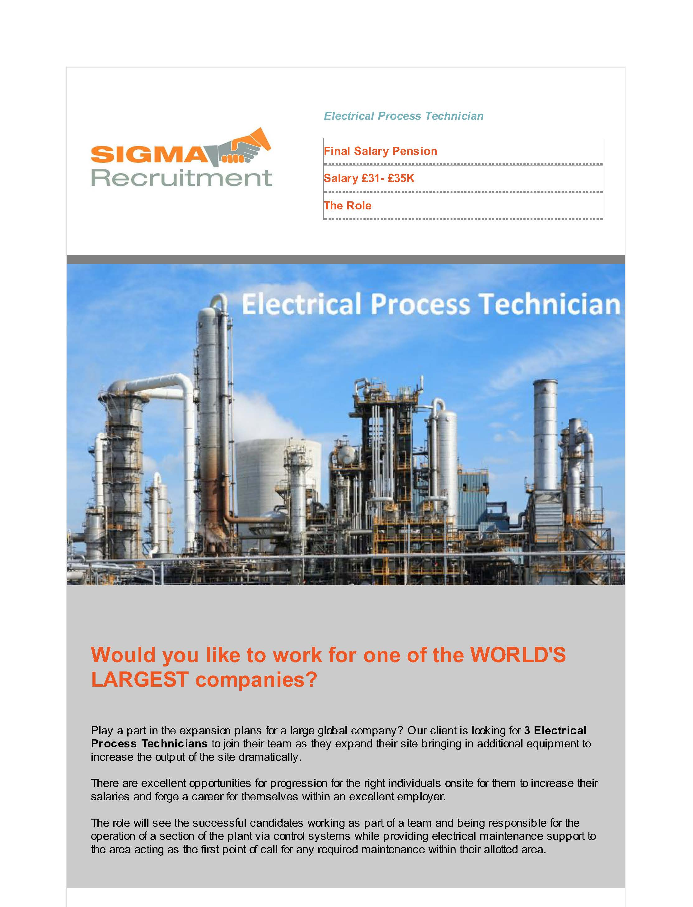 Example email newsletter job vacancies